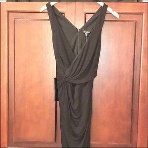 🆕 NWT Bebe sexy asymmetrical draped dress